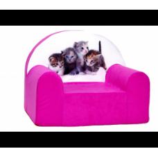 Aga Dětské křesílko MAXX 146 - Kočičky/růžové Preview