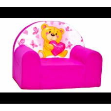Aga Dětské křesílko MAXX 061- Macko/růžové Preview