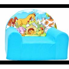 Aga Dětské křesílko MAXX 910 - Farma/modré Preview