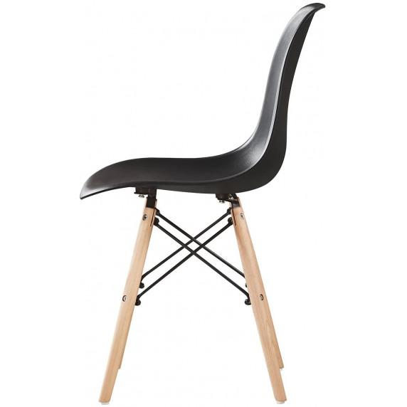 Aga Jídelní židle 4 ks - černá