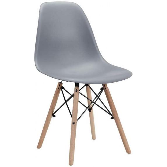 Aga Jídelní židle 4 ks - šedá