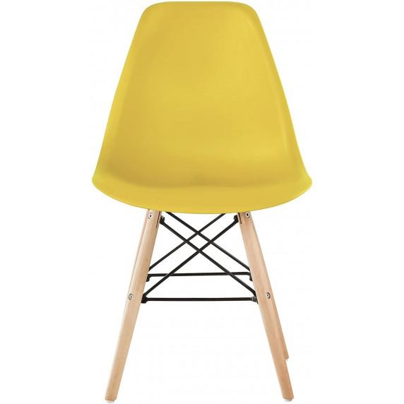 Aga Jídelní židle 4 ks - žlutá