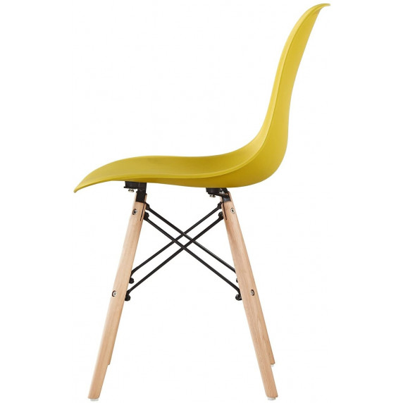 Aga Jídelní židle 4 ks - žlutá - MRWCH-1Y