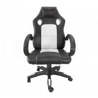 Kancelárské kreslo Aga Racing MR2070 černo-bíle