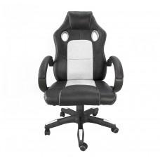 Kancelárské kreslo Aga Racing MR2070 černo-bíle Preview
