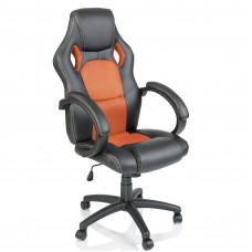 Kancelárské kreslo Aga Racing černá-oranžová Preview