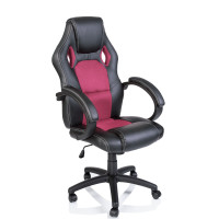 Kancelárské kreslo Racing černá-růžová