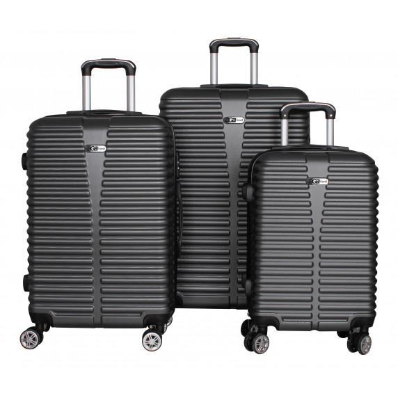 Cestovní kufry  Aga Travel MC3080 S,M,L - šedé