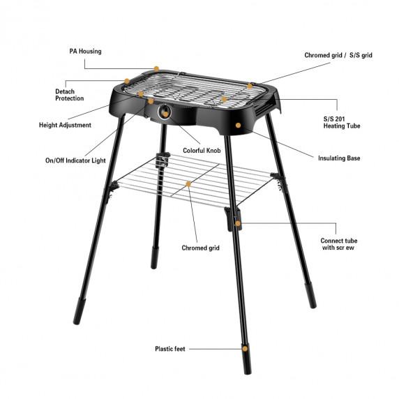 Záhradní elektrický gril MIR-EE001