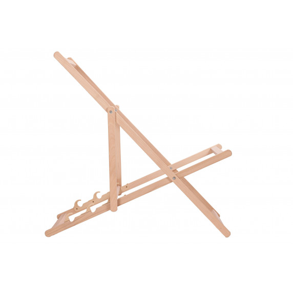 Dřevěné skládací lehátko AGA - světle hnědé