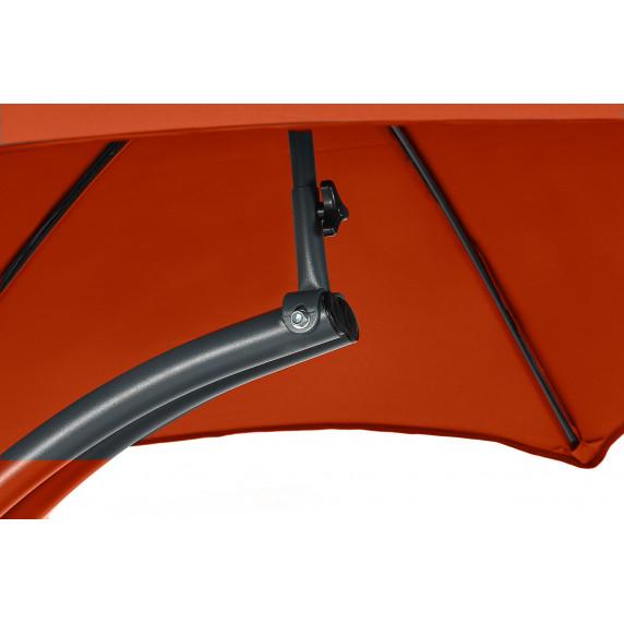 Linder Exclusiv Zahradní lehátko se slunečníkem MC4356 RED