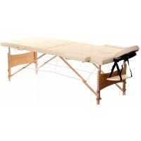 Dřevěné masážní lehátko Aga  WT201 - béžové