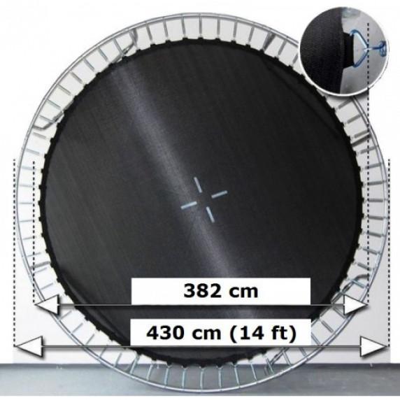 AGA odrazová plocha na trampolínu s celkovým průměrem 430 cm na 96 oček