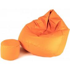 Aga Sedací vak XXXL + podnožník Světle oranžový Preview