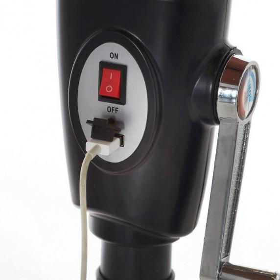Aga Slunečník CLASSIC LED+integrovaná USB nabíječka 300 cm Coffee