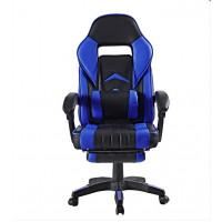 Kancelářská židle s opěrkou pro nohy AGA - černo-modrá