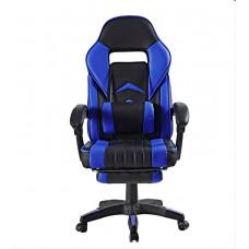 Kancelářská židle s opěrkou pro nohy AGA - černo-modrá Preview