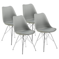 Jídelní židle 4 ks AGA MR2040G - šedá