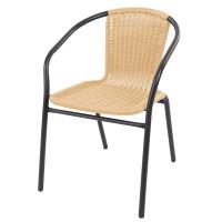 Linder Exclusiv Zahradní židle RATAN - tmavě šedá/béžová