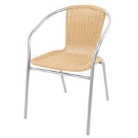 Linder Exclusiv Zahradní židle RATAN - stříbrná/béžová