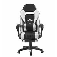 Kancelářská židle s opěrkou pro nohy AGA - černo-bílá