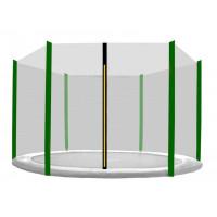 AGA ochranná síť na trampolínu s celkovým průměrem 150 cm na 6 tyčí - černá - tmavozelená