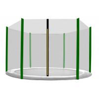 AGA ochranná síť na trampolínu s celkovým průměrem 180 cm na 6 tyčí - černá - tmavozelená