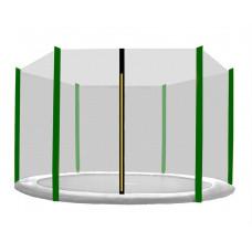 AGA ochranná síť na trampolínu s celkovým průměrem 180 cm na 6 tyčí - černá - tmavozelená Preview