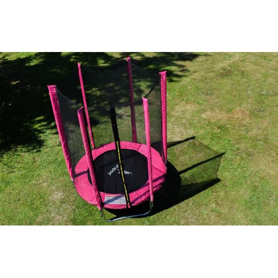 Aga SPORT TOP Trampolína 150 cm Pink + ochranná síť