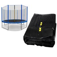 Ochranná síť na trampolínu 305 cm na 8 tyčí SPARTAN - Black/blue