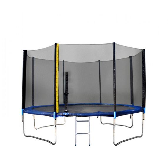 Trampolína XXL 430 cm Linder Exclusiv + ochranná síť + žebřík + krycí plachta