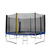 Trampolína XXL 400 cm Linder Exclusiv + ochranná síť + žebřík + krycí plachta