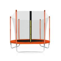 Trampolína Aga SPORT FIT 180 cm s vnitřní ochrannou sítí - oranžová