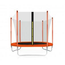 Trampolína Aga SPORT FIT 180 cm s vnitřní ochrannou sítí - oranžová Preview