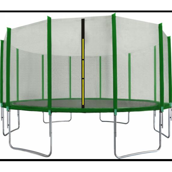 Trampolína 518 cm + ochranná síť AGA SPORT TOP - tmavě zelená