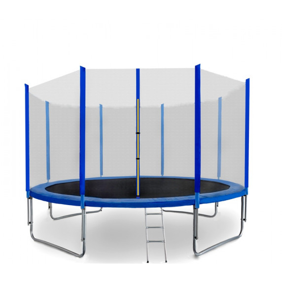 Trampolína 366 cm SPARTAN + ochranná síť + žebřík - modrá