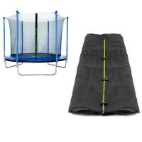 Vnitřní ochranná síť na trampolínu s celkovým průměrem 305 cm na 6 tyčí SPARTAN - černá