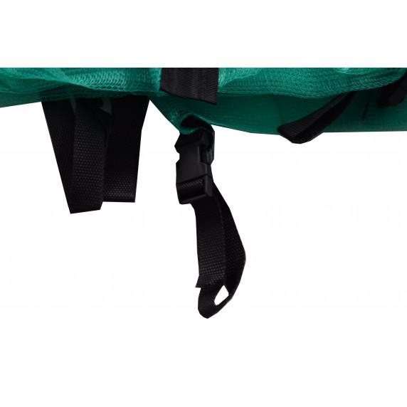 Vnitřní ochranná síť na trampolínu s celkovým průměrem 180 cm na 6 tyčí AGA - oceánově zelená