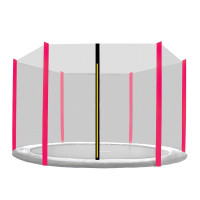 Ochranná síť 305 cm na 6 tyčí - černá síť/růžová