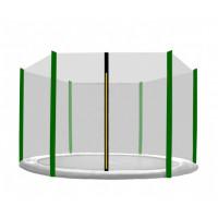 Ochranná síť na trampolínu 430 cm na 6 tyčí - tmavě zelená