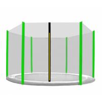 Ochranná síť na trampolínu 430 cm na 6 tyčí - světle zelená
