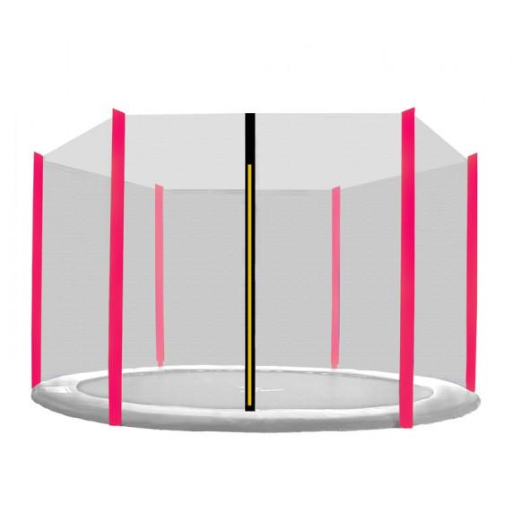 Ochranná síť na trampolínu 430 cm na 6 tyčí - růžová
