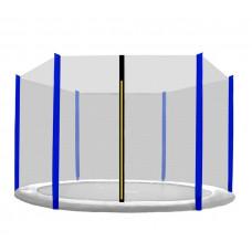 Ochranná síť na trampolínu 305 cm na 6 tyčí Black net / Blue Preview