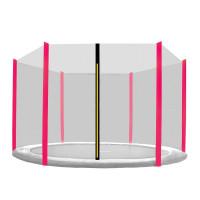 Ochranná síť na trampolínu 250 cm na 6 tyčí Black net / Pink