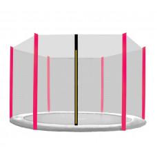 Ochranná síť na trampolínu 250 cm na 6 tyčí Black net / Pink Preview