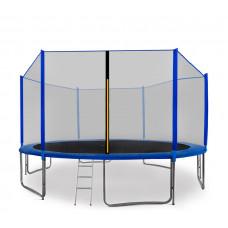 AGA SPORT PRO trampolína 430 cm s vnější ochrannou sítí modrá + žebřík + kapsa na obuv - modrá Preview
