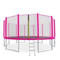 Aga SPORT PRO Trampolína 500 cm Pink + ochranná sieť + rebrík + vrecko na obuv 2018