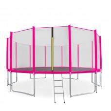 Aga SPORT PRO Trampolína 500 cm Pink + ochranná sieť + rebrík + vrecko na obuv 2018 Preview