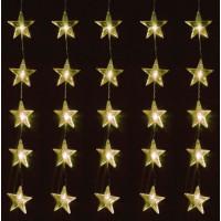 Linder Exclusiv Vánoční světelný závěs Hvězdy 80 LED LK010W - Teplá bílá