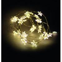 Linder Exclusiv Vánoční řetěz na baterie 40 LED LK111W-S Hvězdy - Teplá bílá